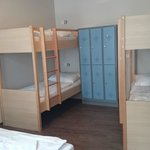 2 bunk beds and lockers
