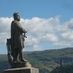 Monumento a William Wallace desde el castillo de Stirling