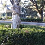 The driveway leading up the the Myrtles
