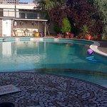 The heated pool.