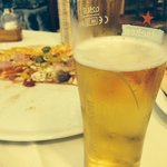 Pizza and cold beer