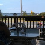 The deck was nice; hot day and no apparent air conditioning made for unsuitable conditions insid