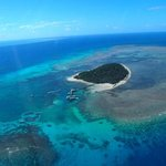 Green Island from the helicopter