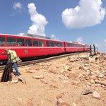 Cog Train at the Pike's Peak Summit. July 2014