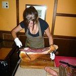 Il Prosciutto tagliato al coltello