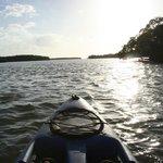 Open water kayaking