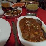 Agneau Chili massala + aubergine