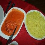 Poulet massala + riz