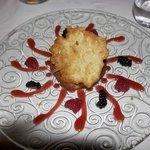 Cherry clafouti at Auberge de la Madone