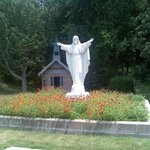 Jesus statue by church