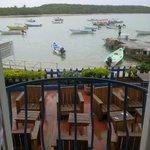 Juliet Balcony View from Sea View Apartment of Fishermen's Dock below