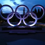 View of the amazing Olympic Rings close to the hotel