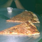 Cheese pizza ($13) and big