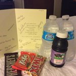 """get well"" goodie bag from Hilton Garden Inn Warner Robins"