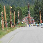 Overview of Totem Pole Village at Saxman