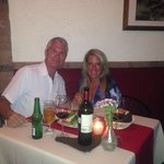 Enjoying the evening at Peter's