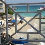 Beach through the balcony