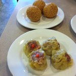Sesame balls and pork dumplings!