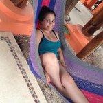 Lounging in the hammocks