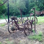 Authentic farm equipment from long ago