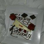Birthday cake sent to my room