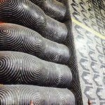 The feet of the 161ft reclining Buddha