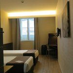 Spacious twin room 324 facing square