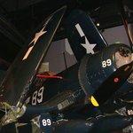 Military aircraft on display.