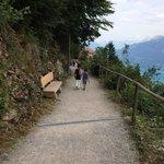 Beginning of Hiking Trail atop Harder Kulm.