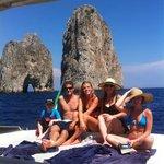 """Famous rock in Capri """"faraglioni"""""""