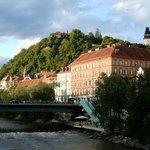 Schloßberg von der Tegetthoff-Brücke