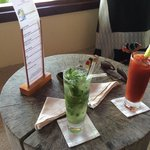cocktail mojito and bloody mary