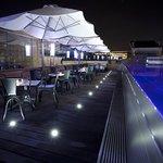 Pool Terrace by Night