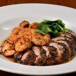 Cajun Pork & King Prawns - Pork tenderloin and king prawns dusted in our own cajun seasoning