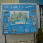 New information board for St Mawes