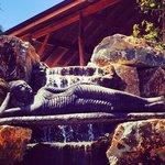 Reclining Buddha waterfall