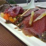 Carne salada confit di cervo e manzo