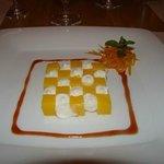 dessert mangue fromage de brebis