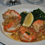 tiger prawns in a zesty lemon sauce
