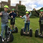 Segway Gliders in front of the Lews Castle