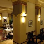 Art Deco styling in restaurant