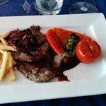 Beef with o porto sauce