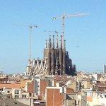 Вид с крыши на Саграду де Фамилия