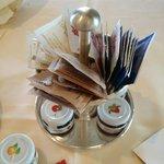 Marmalades details during breakfast