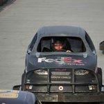 Me driving the 3/8 size Nascar karts
