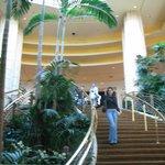 Escada de acesso às piscinas