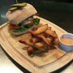 Venison Burger with Thrice Cooked Chips