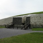 Newgrange, the reconstructed facade and entrance to the passage tomb