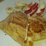 Breakfast crepe with apples