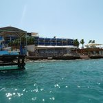 View of the hotel from pedalo